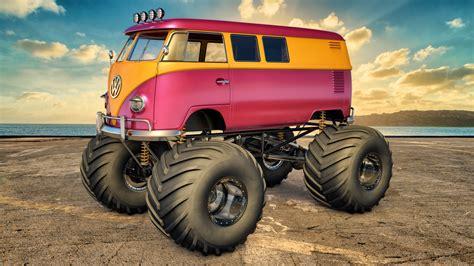 monster truck bus videos vw monster cer by samcurry on deviantart