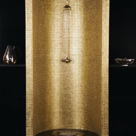 Badezimmer Fliesen Gold by 25 Wonderful Pictures And Ideas Of Gold Bathroom Wall Tiles