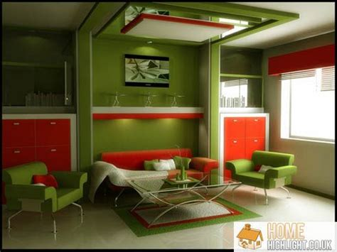 Green And Orange Living Room Decor by 28 Cool Colourful Living Room Design Photos 171 Home Highlight