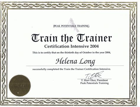 trainer certificate template credentials and qualifications helena copywriter