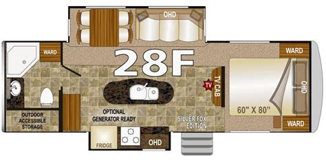 arctic fox 5th wheel floor plans specs for 2016 fifth wheel northwood arctic fox rvs