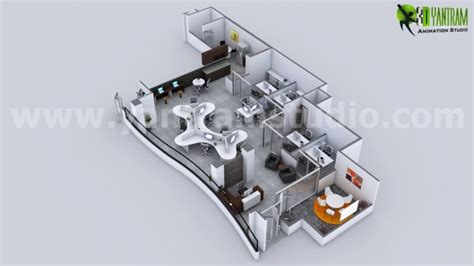 modern office floor plans beautify your modern office 3d floor plan rendering arch