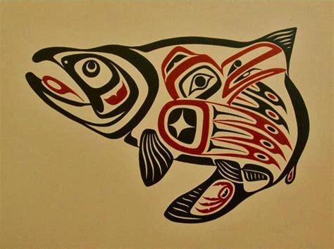salmon native american design mug by brainburst the salmon symbol jewelry masks prints spirits of