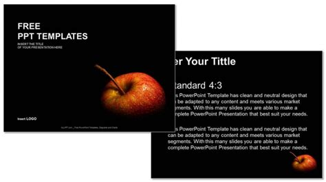 Flesh Apple Food Ppt Templates Free Powerpoint Templates For Mac