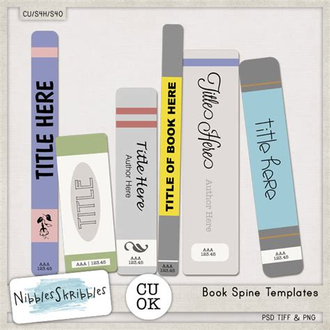 book spine template 3 2 1 cu sale nibbles skribbles