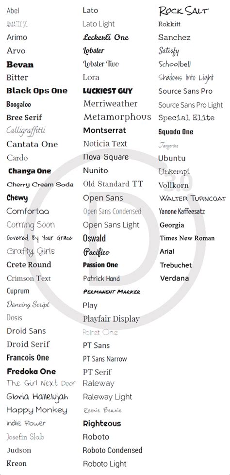 theme fonts list divi theme fonts list previews divi theme help tutorials