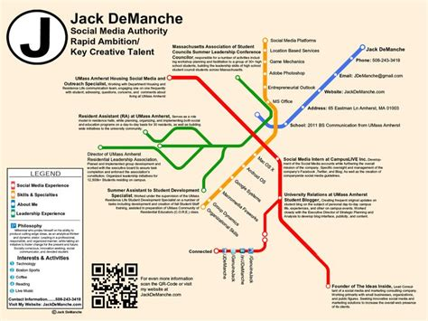 Subway Resume Subway Map Resume From Demanche On Http Www