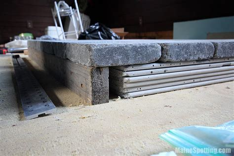 building the wood stove hearth