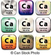 calcio tavola periodica tavola periodico calcio