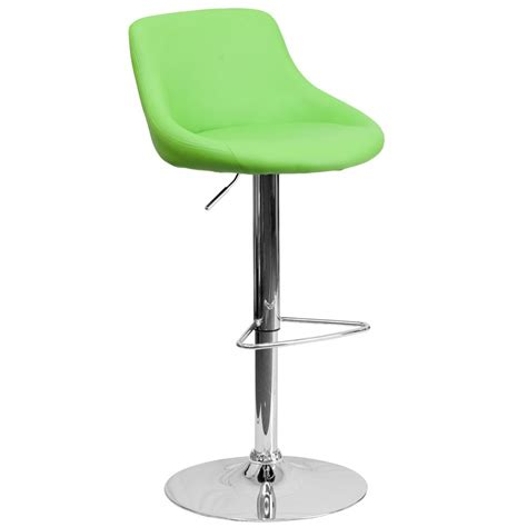 cushioned bar stool flash furniture adjustable height green cushioned bar