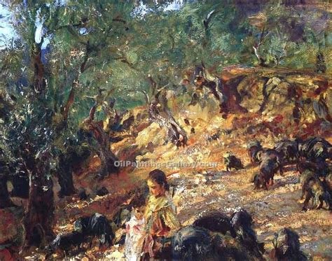 ilex woodworking ilex wood at majorca with blue pigs by singer sargent