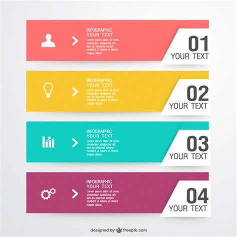 design elements list free infographic label elements vector free download