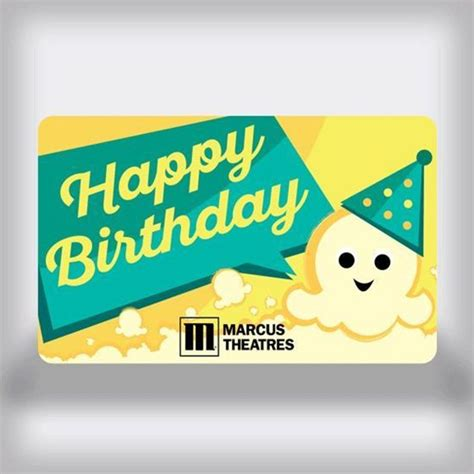 Movie Theatre Gift Card - marcus theatres birthday movie gift card kernel edition