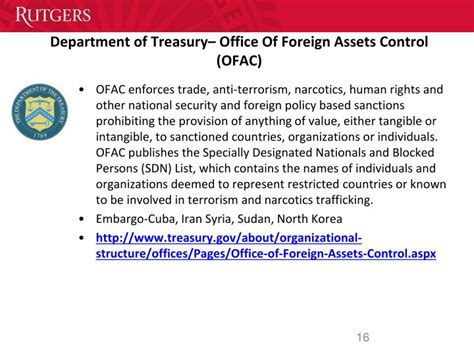 Office Of Foreign Assets Ppt Export Compliance Powerpoint Presentation Id 4492096