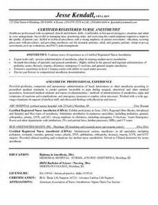 Certified Registered Anesthetist Resume The Key Components Of A Crna Resume Include