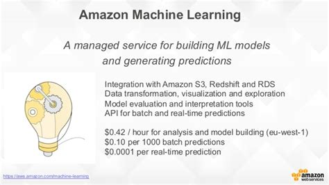 amazon machine learning building a data warehouse with amazon redshift and a
