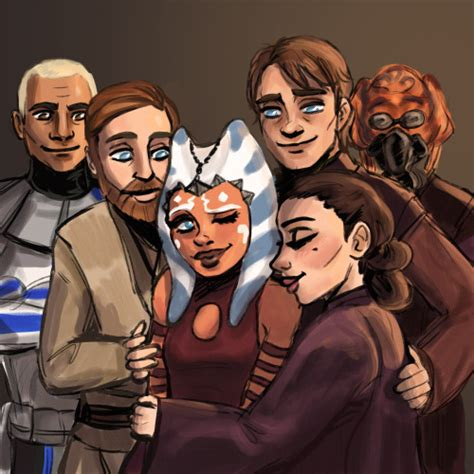 star wars fan fic ahsoka tano and her loving dads mom family star
