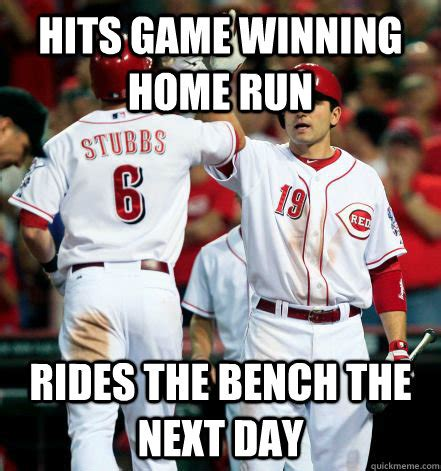 bench meme hits game winning home run rides the bench the next day
