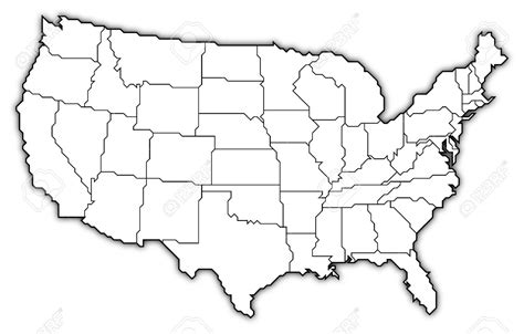 map of the united states outline united states clipart political pencil and in color