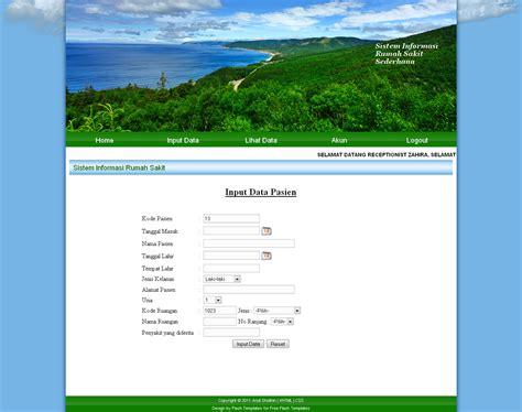 membuat tilan home web dengan php membuat tilan web sederhana dengan php sistem informasi