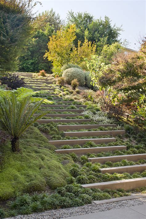 stepped garden design ideas landscape design idea steps with integrated greenery