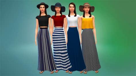 Daniya Maxi high waisted maxi skirts at marvin sims 187 sims 4 updates