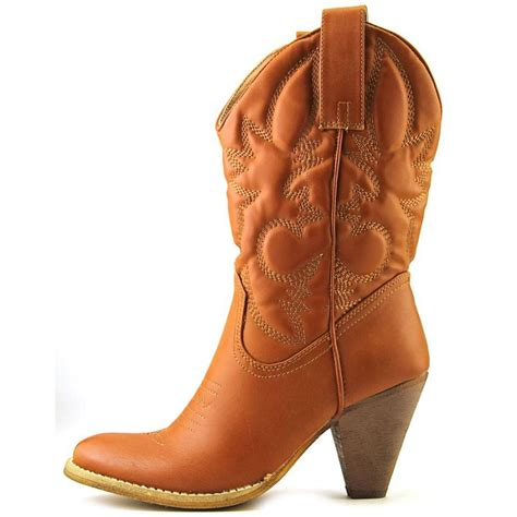 spite saddleup faux leather western boot boots
