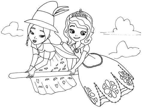 sofia the first coloring pages lucinda sofia
