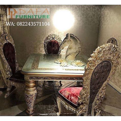 Kursi Meja Makan Ukir Mewah Jepara set meja kursi makan klasik ukir jepara mewah modern