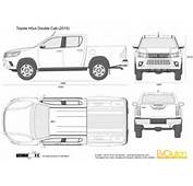 The Blueprintscom  Vector Drawing Toyota Hilux Double Cab