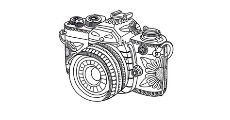 get the coloring page camera 50 printable adult