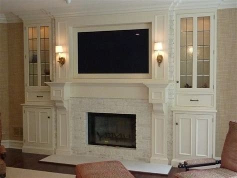 tv over fireplace and media storage great room 67 best images about wall unit media on pinterest