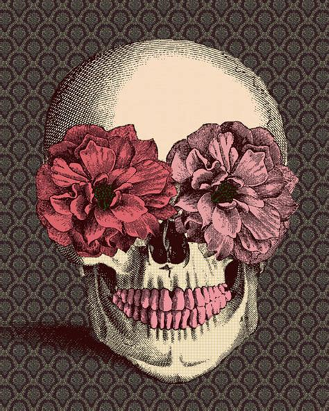 wallpaper skull flower flower skull drawing tumblr