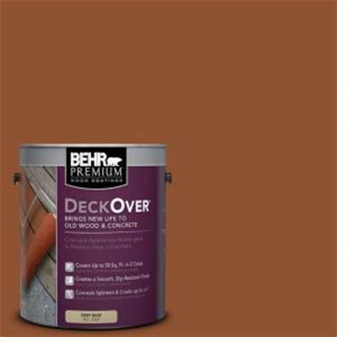 behr premium deckover 1 gal sc 122 redwood naturaltone wood and concrete coating 500001 the