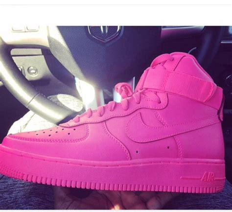 Nike One High Pink shoes pink nike air one nike air 1 high top