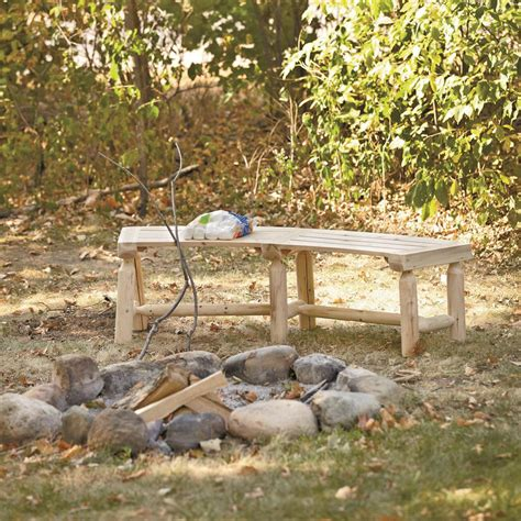 benches around fire pit castlecreek log fire pit bench 676469 patio furniture