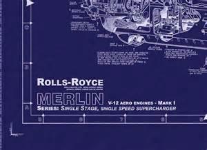 Rolls Royce Merlin Engine Blueprints Merlin I Aircraft Engine Warbird Engines