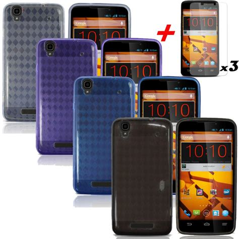Cover Stang N Max 1 4xphoen for zte max n9520 boost mobile soft gel tpu cover screen protectors