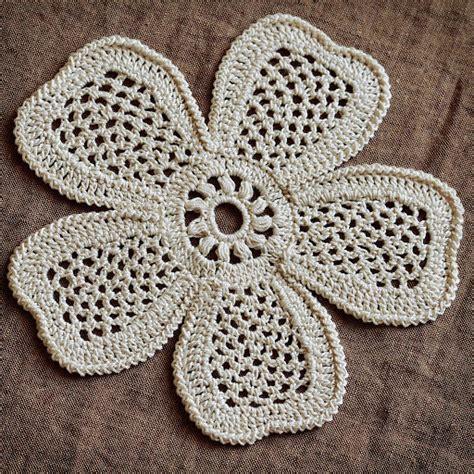 pattern irish crochet irish crochet motif 5 petals flower labs crochet and