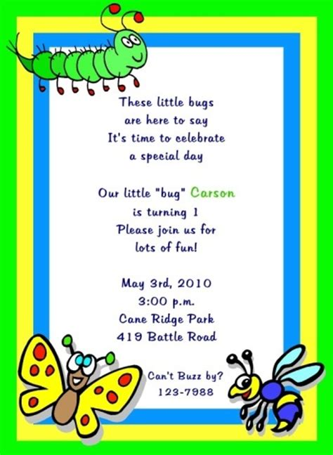 Bug Party Invitation Bug Party Pinterest Invitation Wording Birthdays And Party Invitations Bug Invitation Template