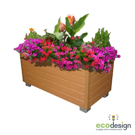 bac 224 fleurs plastique recycl 233 sans entretien