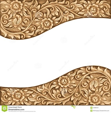 pattern of wood frame carved flower carved frame stock image image 24889431
