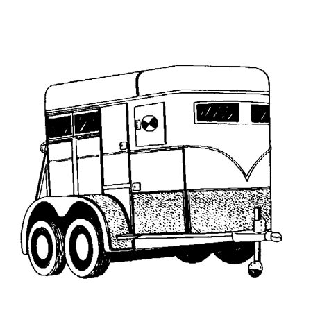 coloring pages horse trailer related images
