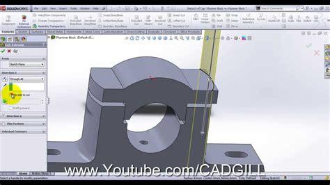 solidworks tutorial blocks plummer block video tutorial solidworks part 02 cap