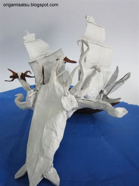 Origami Kraken - origami attack of the kraken by satsukawa on deviantart