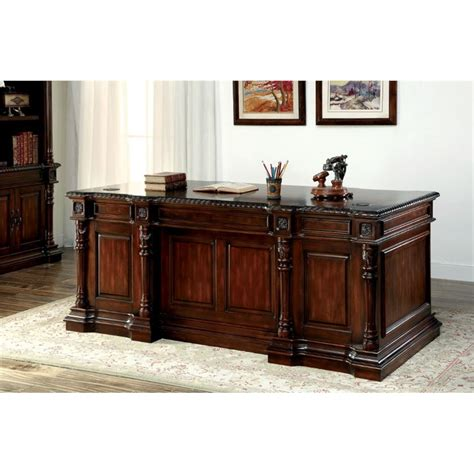 traditional executive office furniture furniture of america langton traditional executive desk in cherry idf dk6252d