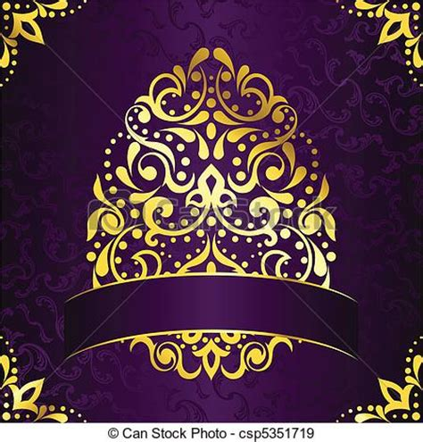 eps vectors of elegant square banner in purple vintage