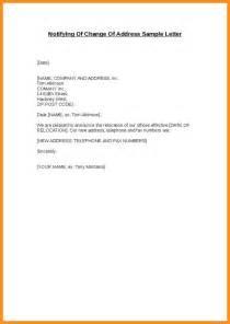 7 sle change of address letter parts of resume