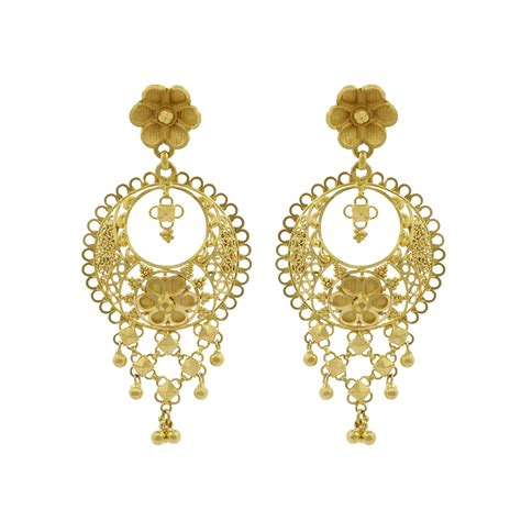design earrings online gold earrings online buy sunnihra chandbali gold earring