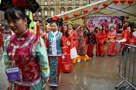 new year parade glasgow fireworks and dances usher in year of the monkey